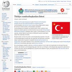 Türkiye cumhurbaşkanları listesi