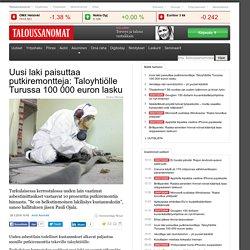 Asbestilain todelliset kulut paljastuvat: Turkulaiselle taloyhtiölle 100 000 euron lasku