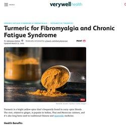 Turmeric for Fibromyalgia and Chronic Fatigue Syndrome