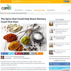 How Turmeric Can Help Boost Memory In Just One Hour