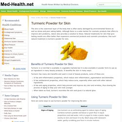 Turmeric Powder for Skin