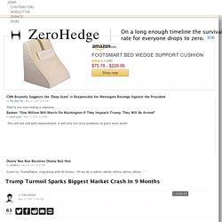 Trump Turmoil Sparks Biggest Market Crash In 9 Months