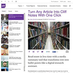 Turn Any Article Into Cliff Notes With One Click