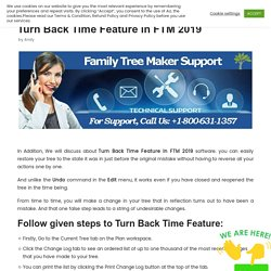 Turn Back Time Feature in FTM 2019 - FTM 2019 Support
