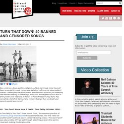 Turn That Down! 40 Banned and Censored Songs