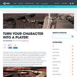 Turn your character into a player!