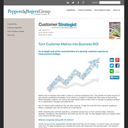 Turn Customer Metrics Into Business ROI