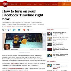 How to turn on your Facebook Timeline right now