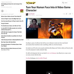 Turn Your Human Face Into A Video Game Character