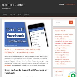 How to turn off notifications on Facebook?