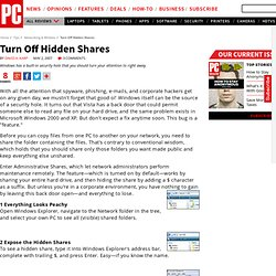 Turn Off Hidden Shares