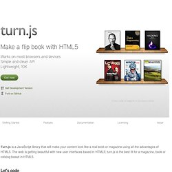 turn.js - The page flip effect for HTML5