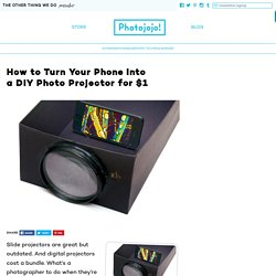 How to Turn Your Phone Into a DIY Photo Projector for $1