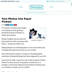 Turn Photos into Paper Flowers