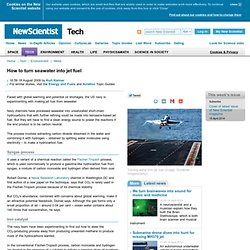 How to turn seawater into jet fuel - tech - 18 August 2009