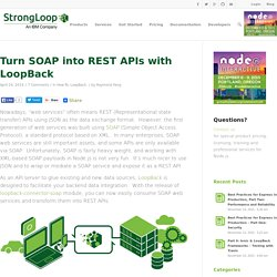 Turn SOAP into REST APIs with LoopBack