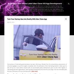 Turn Your Startup Idea Into Reality With Uber Clone App