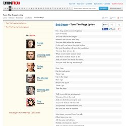 Turn The Page lyrics