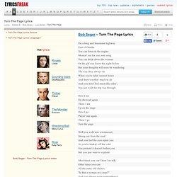 Turn The Page lyrics