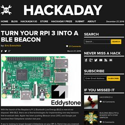 Turn Your RPi 3 Into a BLE Beacon