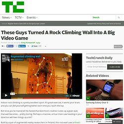 These Guys Turned A Rock Climbing Wall Into A Big Video Game