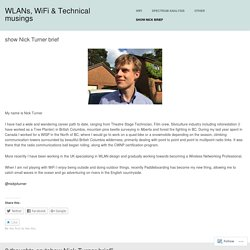 WLANs, WiFi & Technical musings