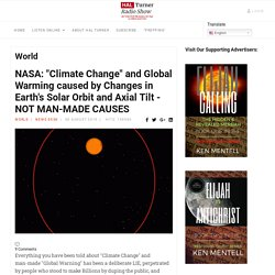 """Hal Turner Radio Show - NASA: """"Climate Change"""" and Global Warming caused by Changes in Earth's Solar Orbit and Axial Tilt - NOT MAN-MADE CAUSES"""