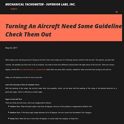 Turning An Aircraft Need Some Guidelines! Check Them Out