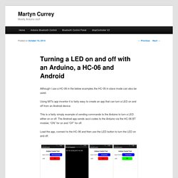 Turning a LED on and off with an Arduino, a HC-06 and Android