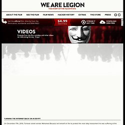 Turning the internet back on in Egypt | We Are Legion: The Story of the Hacktivists