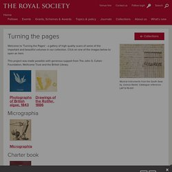 Turning the Pages - History of Science - The Royal Society