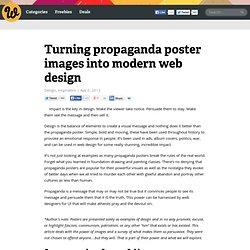 Turning propaganda poster images into modern web design
