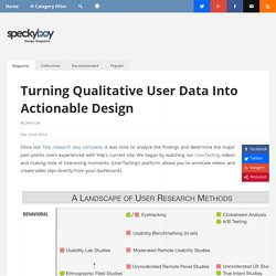 Turning Qualitative User Data Into Actionable Design