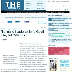 Turning Students into Good Digital Citizens