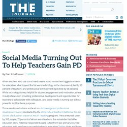 Social Media Turning Out To Help Teachers Gain PD