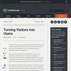 Turning Visitors into Users