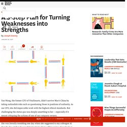 A 3-Step Plan for Turning Weaknesses into Strengths