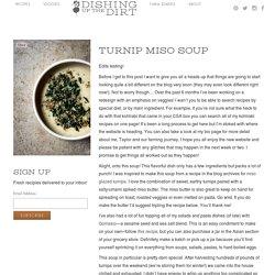 Turnip Miso Soup