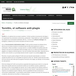 Turnitin, el software anti-plagio