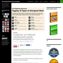 Turnitin: 10 types of unoriginal work #turnitin #edtech
