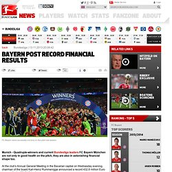 Record turnover for FC Bayern