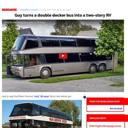 Guy turns a double decker bus into a two-story RV / Boing Boing