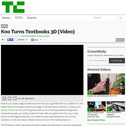 Kno Turns Textbooks 3D (Video)