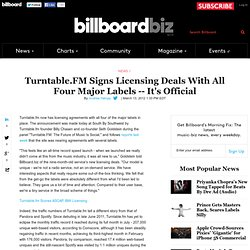 Exclusive: Turntable.FM Signs Licensing Deals With All Four Major Labels -- It's Official