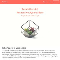 Turntable.js : A Responsive JQuery Slider