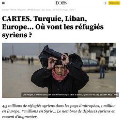 CARTES. Turquie, Liban, Europe... Où vont les réfugiés syriens ? - 9 février 2016