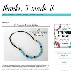 DIY Turquoise Triangle Necklace