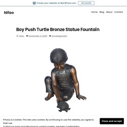 Boy Push Turtle Bronze Statue Fountain – Nifao