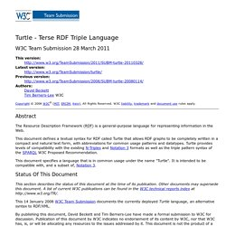 Turtle - Terse RDF Triple Language