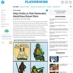 Ninja Turtles as Their Namesakes Would Have Drawn Them